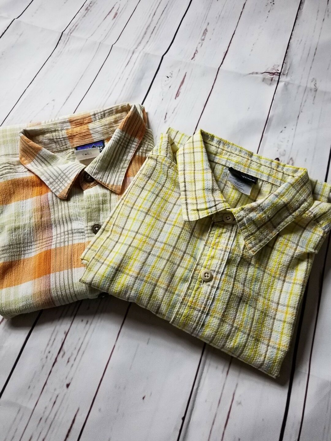 Patagonia S S Button Front Casual Shirts Men's SZ Medium Md M in  Lot of 2