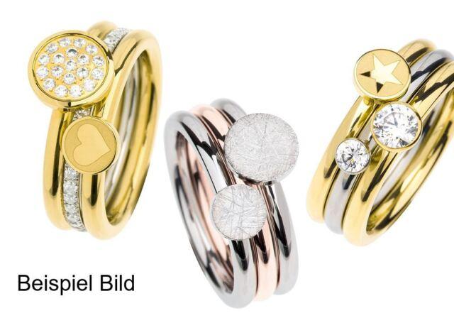 Ernstes Design Evia Ring Edelstahl R453 Vorsteckring schmal rundrum mit Steinen
