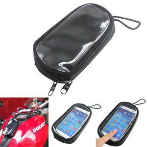 Motorcycle Magnetic Fuel Tank Bag Gas Bag iPhone Cell Phone Smartphone Holder