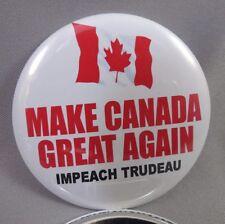 WHOLESALE LOT OF 12 MAKE CANADA GREAT AGAIN IMPEACH TRUDEAU BUTTON TRUMP America