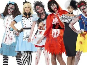 Erwachsene Halloween Horror Zombie Märchen Kostüm Neu Uk 8 22 Ebay