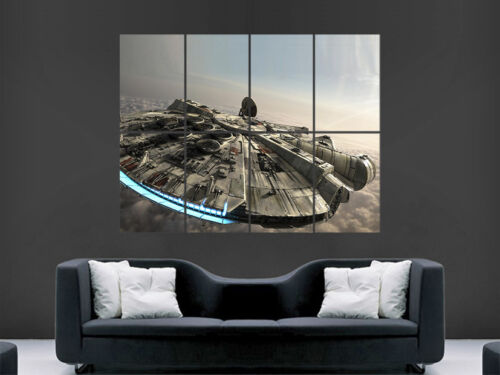 STAR WARS POSTER MILLENNIUM FALCON WALL ART PICTURE PRINT LARGE  GIANT HUGE