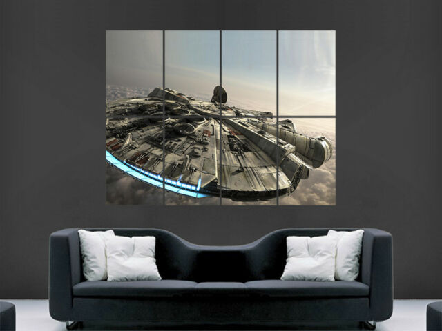 277e4f08e50 STAR WARS POSTER MILLENNIUM FALCON WALL ART PICTURE PRINT LARGE GIANT HUGE