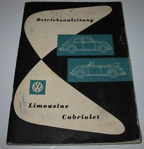 Betriebsanleitung-Handbuch-VW-Kaefer-Limousine-Cabriolet-Cabrio-Stand-1960