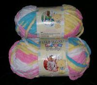 Bernat Baby Blanket Super Bulky Yarn Lot Of 2 Skeins Pitter Patter Multi 3616