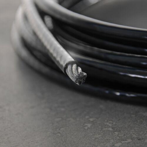 Stahlseil ummantelt mit Ösen schwarz Schlaufenseil Drahtseil mit 2 Schlaufen
