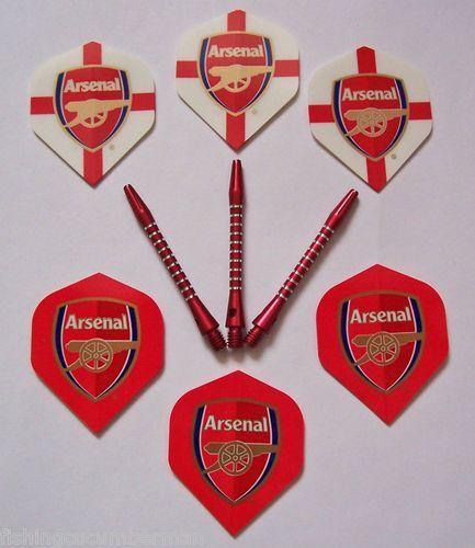 Arsenal /& Arsenal Special Edition Dart Flights and Red AR5 Aluminium Stems