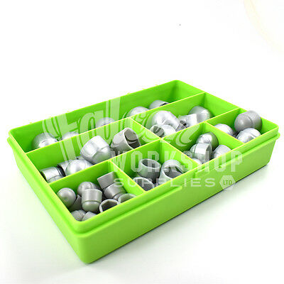 80 SILVER GREY ASSORTED PIECE PLASTIC NUT & BOLT COVERS M6 M8 M10 M12 KIT