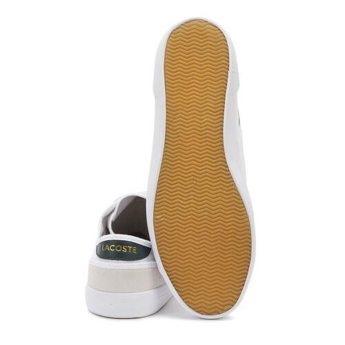 Lacoste Sideline 319 4 Homme Blanc//Vert Foncé Baskets Sport Chaussures De Loisirs