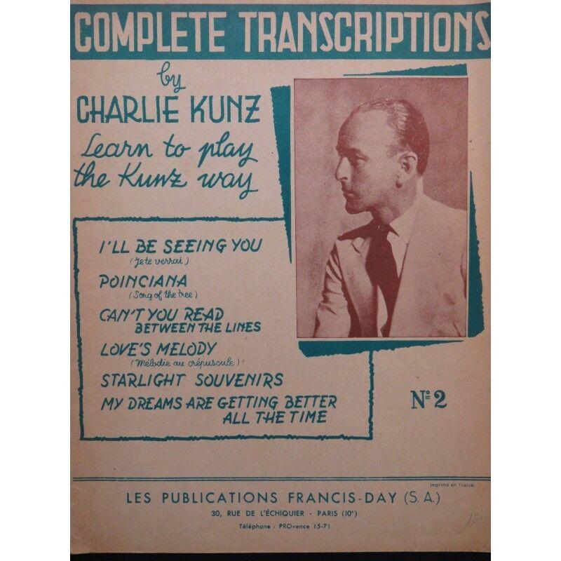KUNZ Charlie Complete Transcriptions 6 Pièces Piano 1946 partition partition partition sheet music s  promociones