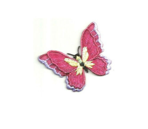 Insect Spring Butterfly Layered Burgundy//Light Purple Iron On Patch