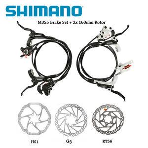 Shimano-BR-BL-M355-Hydraulic-Disc-Brake-Set-Front-amp-Rear-Black-White-G3-HS1-RT56