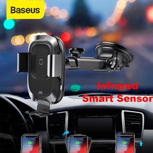 baseus qi auto wireless ladeger t charger handy halterung kfz infrarot automatik ebay. Black Bedroom Furniture Sets. Home Design Ideas