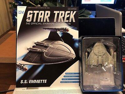 Emmette Model Starship Eaglemoss STAR TREK Official Starships Magazine #124 S.S