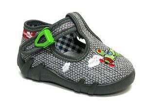 Charmant Pour Bébé Garçons Toile Chaussures Enfants Sandales Gris-avion (uk 9/eu 27)-afficher Le Titre D'origine Dans La Douleur
