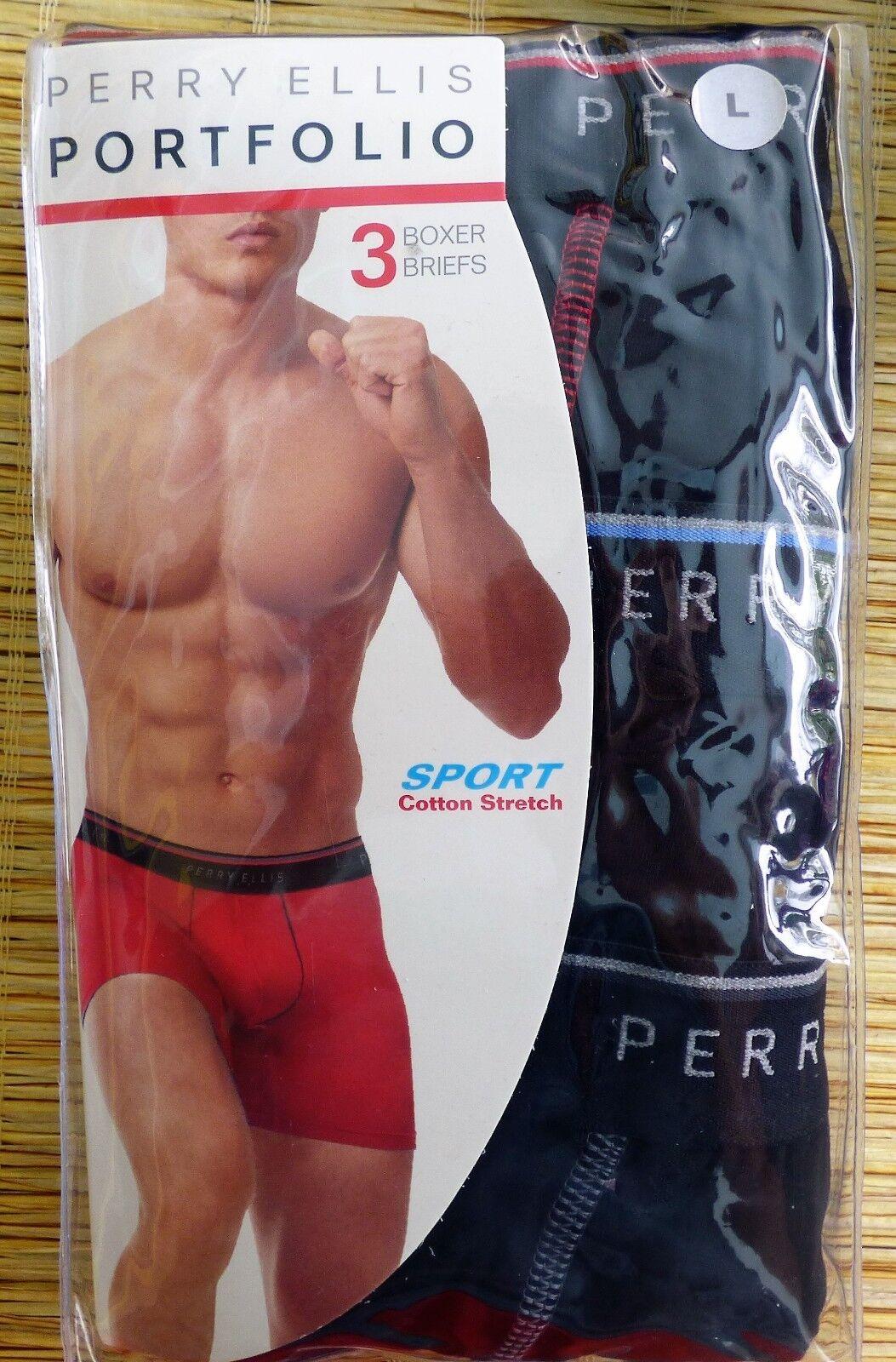5555e10eddae Perry Ellis Men's Portfolio 3 Pack Cotton Stretch Dual Tip Solid ...