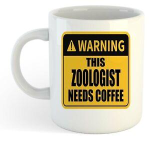 Warning-Esta-Zoologist-Necesita-Cafe-Blanco-Taza-Regalo-Trabajo-Regalo