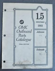 Details about 1968 OMC Parts Catalog 1 5HP Outboards Evinrude Mate 1802S  Johnson SC-10S Used