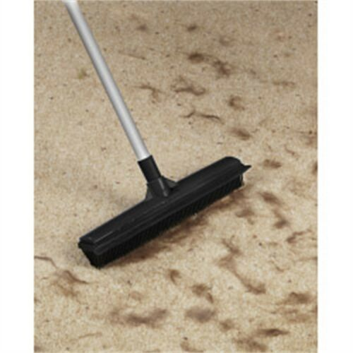Supahome Bristled Pet Hair Floor Sweeper Rubber Broom With Extending Handle