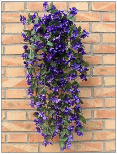 Artifical Violet Bracketplant SET Hanging Garland Vine Flower Traling Set