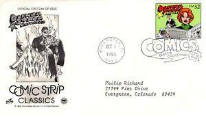 1995-Comic-Franja-Clasicos-Brenda-Starr-Arte-Artesania-Pcs-Cachet-Maquina-Addr