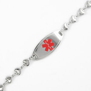 Pre Engraved Unisex Organ Donor Id Medical Alert Bracelet