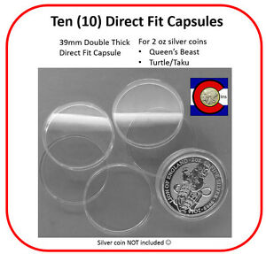 20 x Brand New Air-tite Capsules to fit 2 oz Queens Beasts Silver Coins
