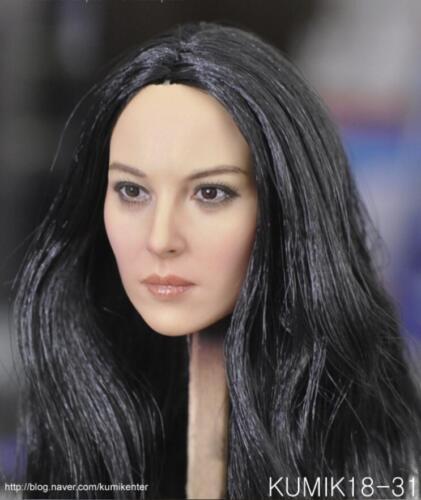 """KUMIK 1//6 Noir Cheveux Fille Head Sculpt KM18-31 pour 12/"""" Figurine Hot Toys ❶ USA ❶"""