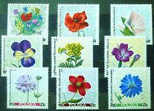 POLAND STAMPS MNH Fi1634-42 Sc1522-30 Mi1781-89 - Wildflowers, 1967, clean