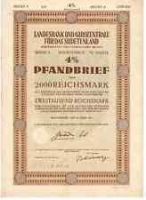 Landesbank und Girozentrale für das Sudetenland 1941 Reichenberg