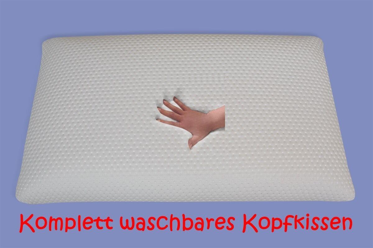 NEU komplett waschbares GEL GEL GEL Gelschaum Kopfkissen 80x40 Höhe 12 cm waschbar NEU 727f05
