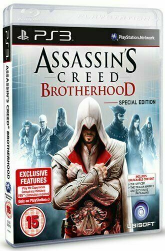 Assassins Creed Brotherhood For Sony Playstation 3 Ps3 Game For