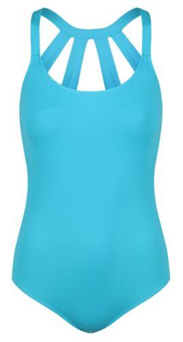 DL001Ballet Wide Strap Back Tactel Ladies Dance Leotard Turquoise Blue