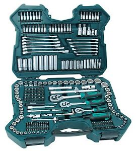 Briefcase-Box-Tools-215-Parts-Mannesmann-Keys-Socket-and-other-New