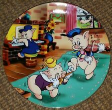 KENLEYS Walt Disney Plate THREE LITTLE PIGS Nice Condition