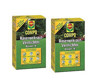 2 X 240 ml Compo Rasenunkraut-Vernichter Banvel M