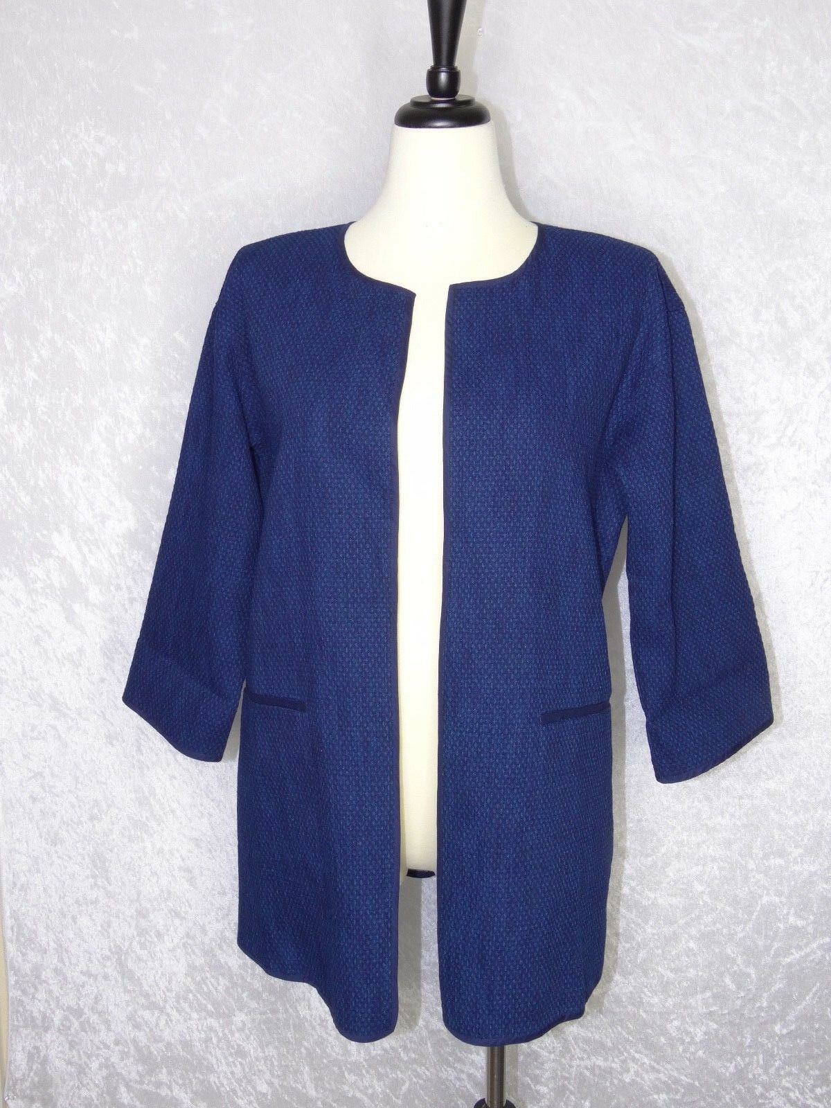 Eileen Fisher XS to Medium Open Cardigan bluee Blazer