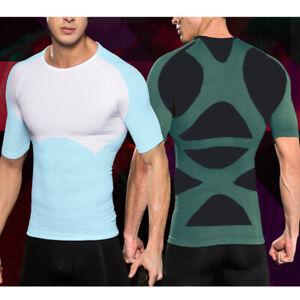Men-Seamless-Slim-Body-Shaper-Vest-Abdomen-Compression-Workout-Tank-Top-Shirt-US