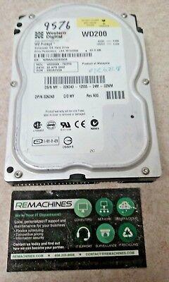 Western Digital Dell WD200EB-75CPF0 02K043 20GB 5400 RPM IDE Hard Drive TESTED