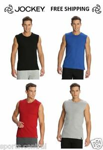 Jockey-Mens-Sports-T-Shirt-100-Comb-cotton-S-M-L-XL-Red-Blue-Black-Blue-Grey