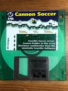 Amiga-Format-cover-disk-54b-Cannon-Soccer-TESTED-WORKING