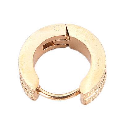 Men's Stainless Steel Hoop Huggie Earrings Ear Studs Frosted New Men Jewelry WB