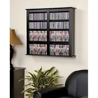 Hanging Wall Shelf Media Rack Cabinet Tower Mount DVD CD Games Storage Holder