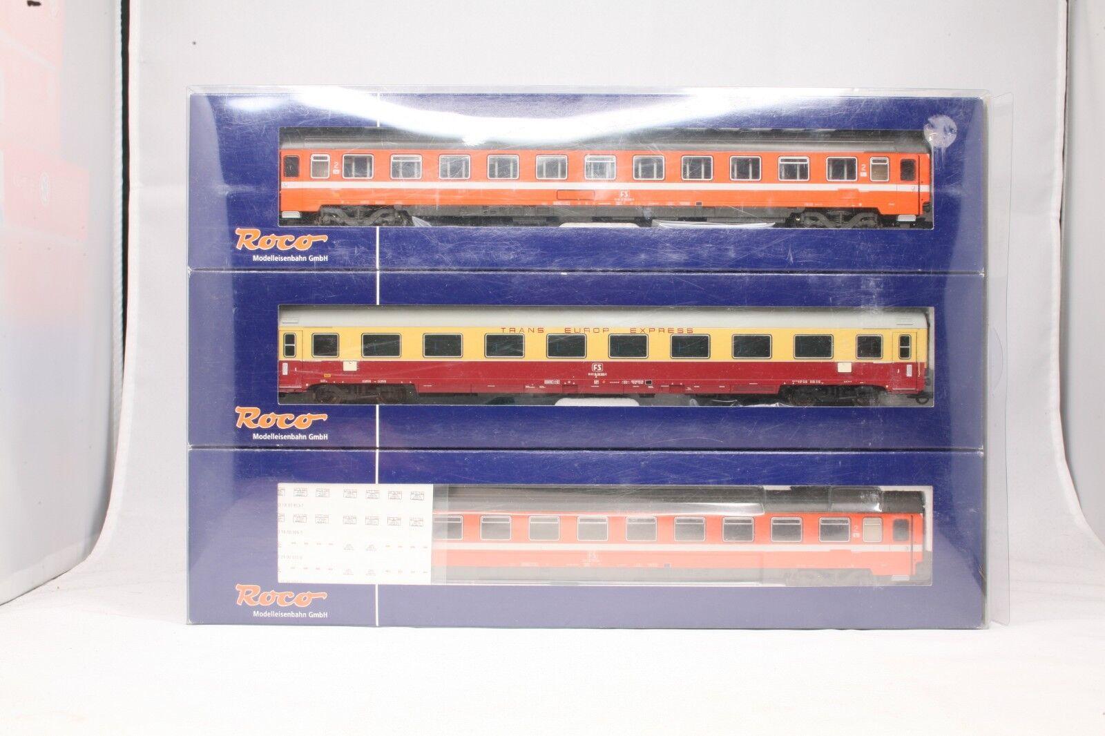 H0 roco 64073 a los turismos de la fs schnellzugwagen-set 3 piezas Europ Express 1 87