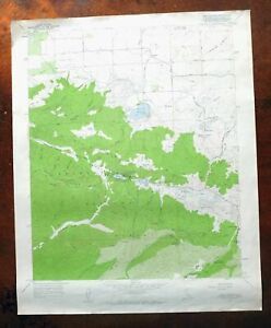 Lake Hughes California Vintage USGS Topo Map 1957 Angeles NF Topographic