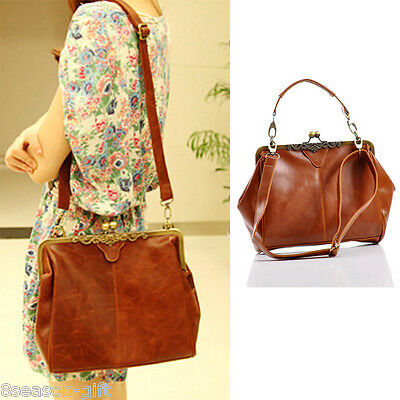 1 New Women's Shoulder Bag Purse Shopper Tote Handbag Brown