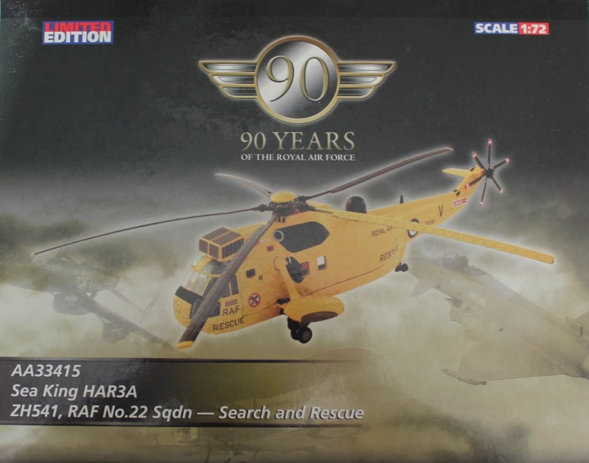 Corgi Aviation AA33415 Westland Westland Westland Sea King HAR3A ZH541 RAF 22 Sqn SAR Low Cert0004 42fda8