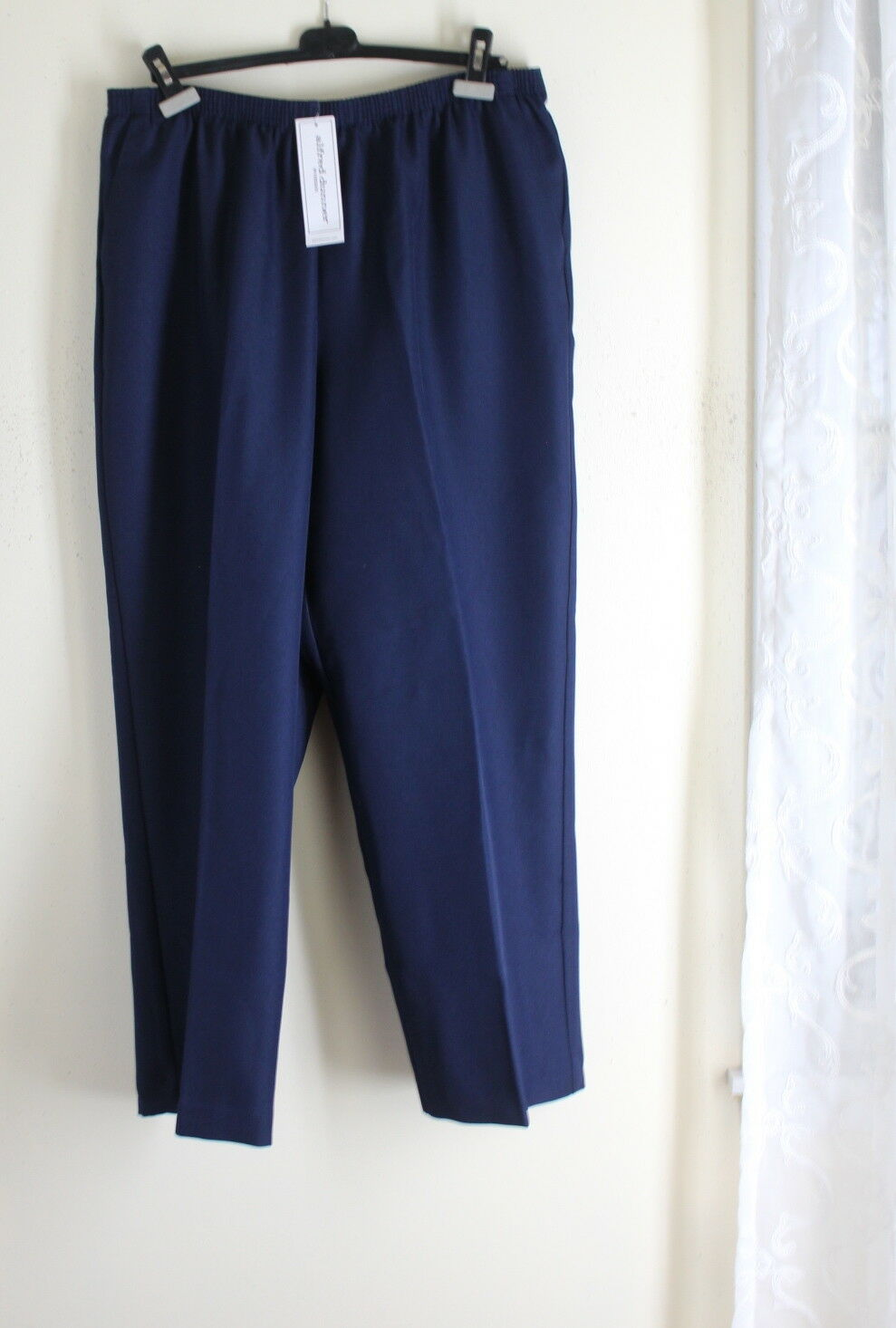 NWT Alfred Dunner -Sz 20W NAVY blueE Elegant Classic Trouser Pants 30  Inseam