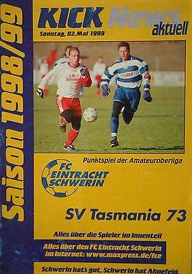 Programm 1998//99 Köpenicker SC SC Charlottenburg