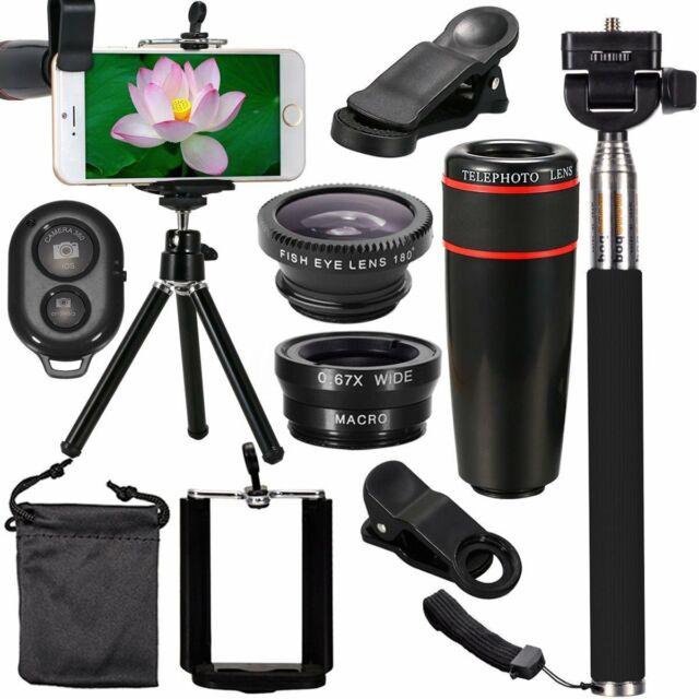 All in 1 Accessories Phone Camera Lens Travel Kit Fr Mobile Smart CellPhone KU
